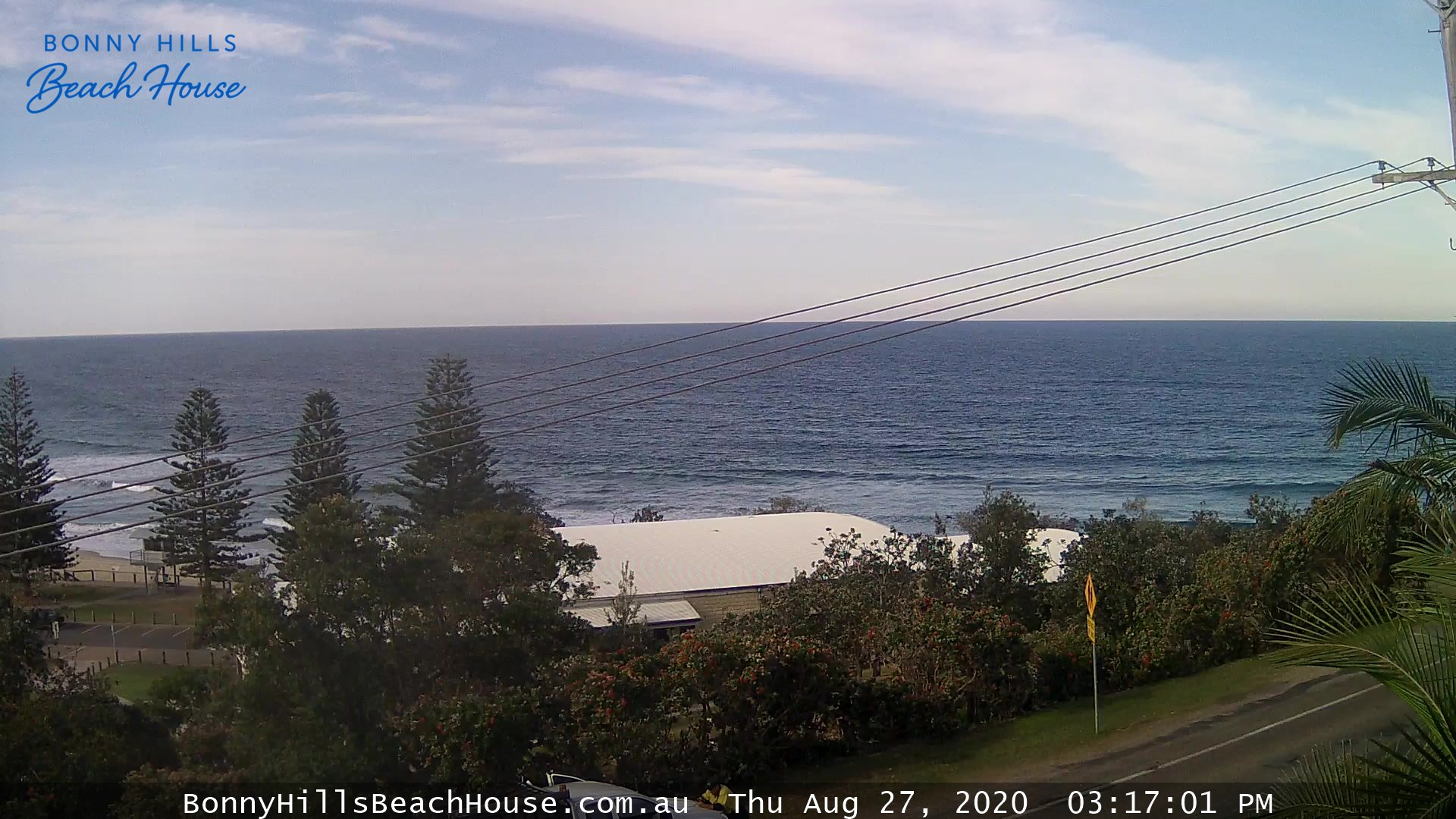 Rainbow Beach webcam - Bonny Hills Beach House East Surf webcam, Queensland, South East Queensland